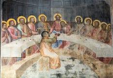 The frescos in Baptistery of Duomo or The Cathedral of Santa Maria Assunta by Giusto de Menabuoi 1375-1376. Royalty Free Stock Image