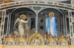 The frescos in Baptistery of Duomo or The Cathedral of Santa Maria Assunta by Giusto de Menabuoi 1375-1376. Padua, Royalty Free Stock Photos