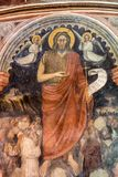 The frescos in Baptistery of Duomo or The Cathedral of Santa Maria Assunta by Giusto de Menabuoi . Padua. Royalty Free Stock Images