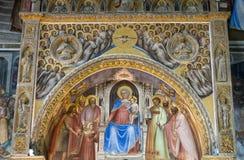 The frescos in Baptistery of Duomo or The Cathedral of Santa Maria Assunta by Giusto de Menabuoi 1375-1376. Padua Stock Photography