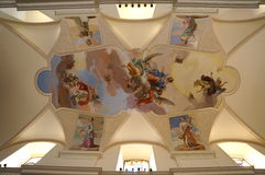 Frescos in Cathedral, Noto, Sicily, Italy Royalty Free Stock Photography