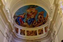 Frescos in Cathedral, Noto, Sicily, Italy Royalty Free Stock Images