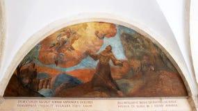 Frescos con escenas a partir de la vida de St Francis de Assisi Fotos de archivo libres de regalías