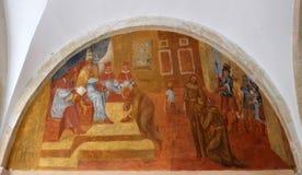 Frescos con escenas a partir de la vida de St Francis de Assisi Imagen de archivo