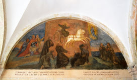 Frescos con escenas a partir de la vida de St Francis de Assisi Imágenes de archivo libres de regalías