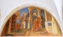 Frescos con escenas a partir de la vida de St Francis de Assisi Fotos de archivo