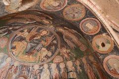 Frescos in Cross Church, Cappadocia Royalty Free Stock Photo