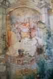 Frescos de la iglesia del carmín, Erice Imagen de archivo