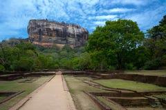 Frescos de Sigiriya Fotografía de archivo libre de regalías