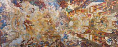 Frescos en la iglesia barroca Fotos de archivo libres de regalías