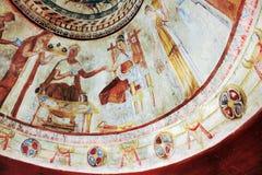 Frescos en la tumba del rey de Thracian Kazanlak, Bulgaria Imagenes de archivo