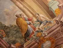 Frescos in Lublin's cathedral, Lublin, Poland Stock Photo
