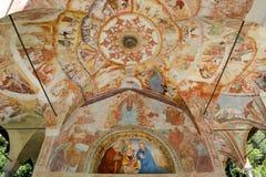 Frescos of the Madonna di Loreto church at Varallo on Piedmon Royalty Free Stock Images