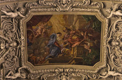Frescos and other beautiful decorations inside Dominican church in Vienna Stock Images