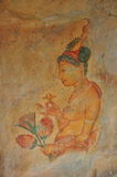 Frescos que pintan, Sigiriya Foto de archivo
