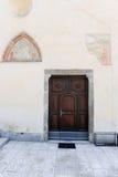 Frescos on the rural church of Medeglia Stock Image