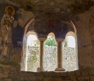 Frescos in the Saint Nicholas church in Demre, Turkey Stock Images