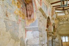Frescos in the Saint Nicholas Santa Clause church in Demre, Tu Royalty Free Stock Photography