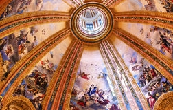 Frescos San Francisco el Grande Madrid Spain de la bóveda Foto de archivo
