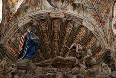 San Miguel De Allende-January 18, 2017: Frescos in Santuario de Atotonilco Royalty Free Stock Photo
