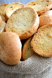 Freselle of bread in sack Stock Photo