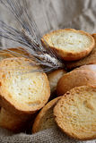 Freselle of bread in sack Royalty Free Stock Photo