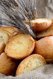 Freselle of bread in sack Stock Images