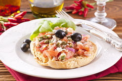 Freselle with bruschetta Stock Images
