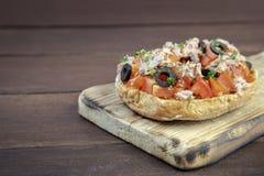 Freselle, ou o friselle secaram o pão, alimento italiano fotografia de stock royalty free