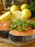 Fresh. Fillets salmon Stock Photos