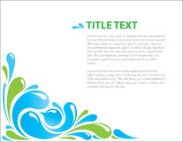Fresh abstract background. With text Stock Images