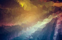 Fresh abstract irregular polygon background with a triangle patt. Ern in full multi color - low poly Royalty Free Stock Photo