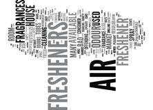 Fresh Air With An Air Freshener Text Background  Word Cloud Concept Royalty Free Stock Images