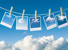Fresh air concept. With prints of sky and clouds Stock Photo
