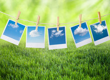 Fresh air concept. With prints of sky and clouds Royalty Free Stock Photography