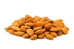 Fresh almonds isolated Stock Photo