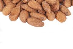 Fresh almonds isolated Stock Image