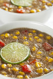 Fresh Amaranth Corn Chowder Stock Photo