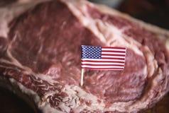Fresh American beef food photography recipe idea royalty free stock image