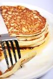 Fresh american pancakes royalty free stock photo