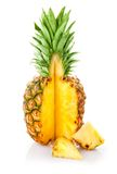 Fresh ananas fruit with cut Royalty Free Stock Photography