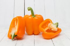 Free Fresh And Colorful Orange Bell Peppers Stock Photography - 105955242
