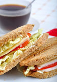 Fresh And Delicious Classic Sandwich Stock Photography