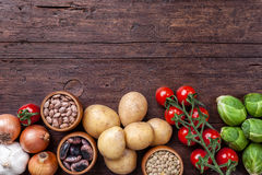 Free Fresh And Healthy Organic Vegetables And Food Ingredients Stock Photos - 65910623