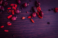 Fresh antioxidant herbal tea from goji berries Royalty Free Stock Photos