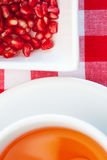 Fresh antioxidant pomegranate tea. Stock Images