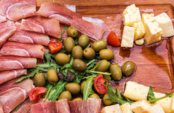 Fresh Antipasto Platter Stock Image