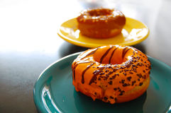 Fresh appetizing donuts Stock Photography