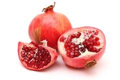 Fresh appetizing pomegranates Stock Photography