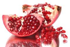Fresh appetizing pomegranates Royalty Free Stock Photo
